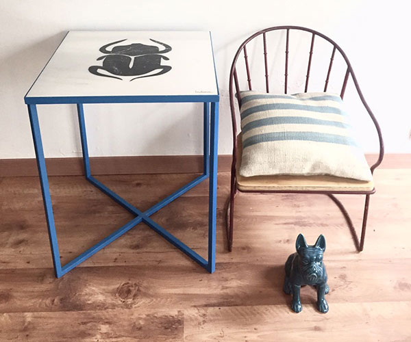 mesa bichos muebles diseño