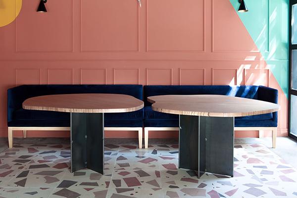 color pared muebles diseño