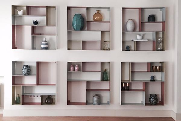 estanteria blanca muebles diseño