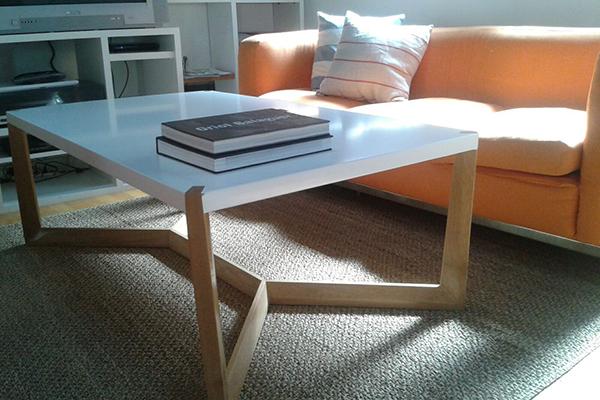 mesa blanca muebles diseño