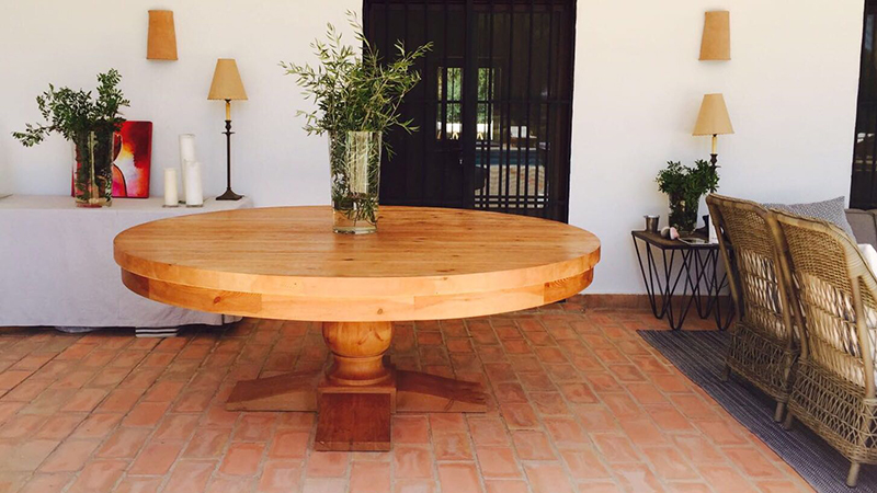 mesa madera muebles diseño